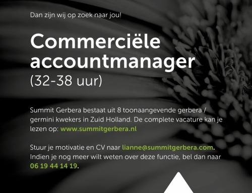 Commerciële accountmanager gezocht